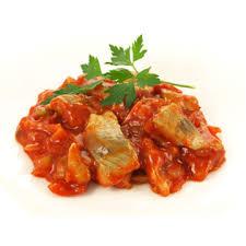 haring in tomatensaus