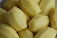 aardappels geschild