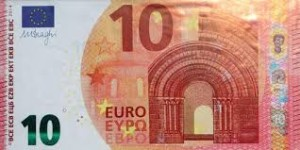 10 euro biljet ( niet echt hoor)