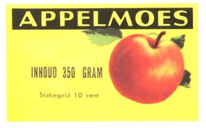 appelmoes etiket pot