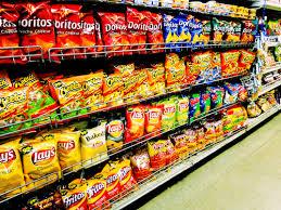 zakken chips veel