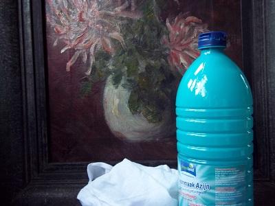 Dora schilderij schoon met azijn klein