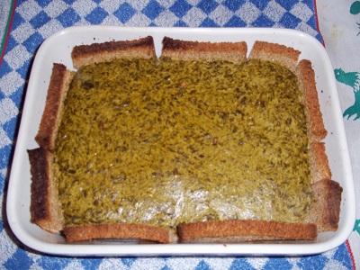 Dora spinazietaart brood 2 klein