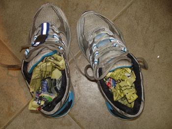 Dora doorweekte schoenen 2