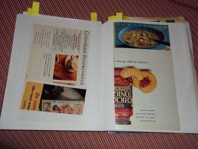 Dora schriftje met recepten klein