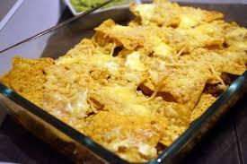 dorit-chips met gesmolten kaas