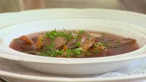 heldere paddenstoelen soep