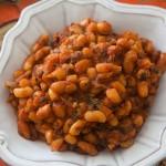 witte bonen in pittige tomatensaus
