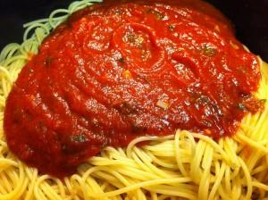 saus voor op de pasta